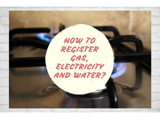 How to register Gas, Electricity and Water?